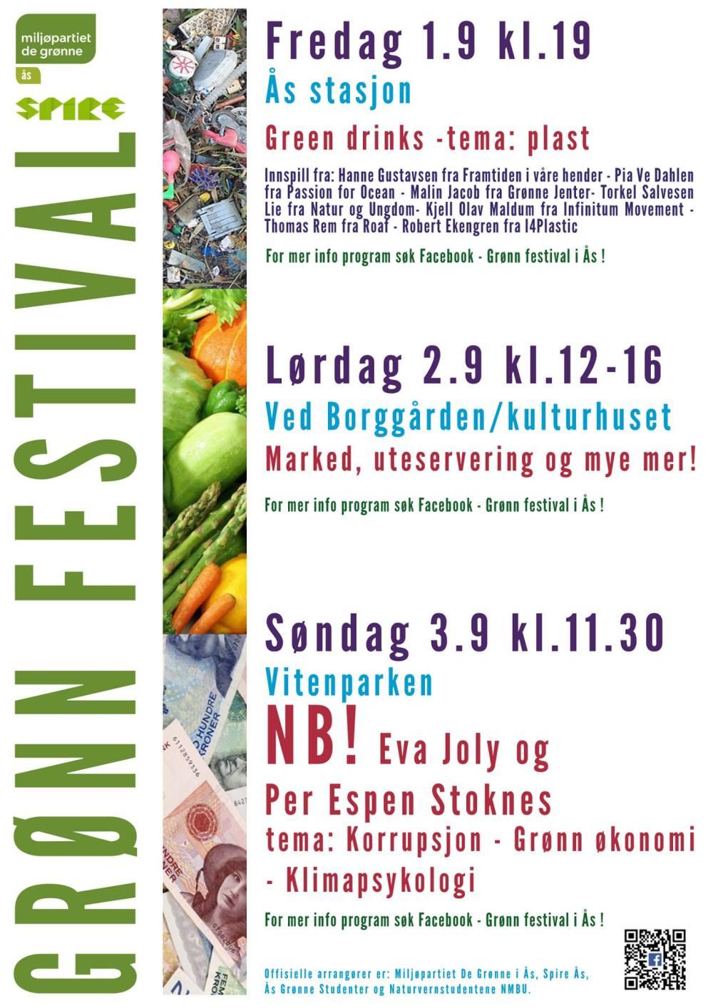 plakat grønn festival