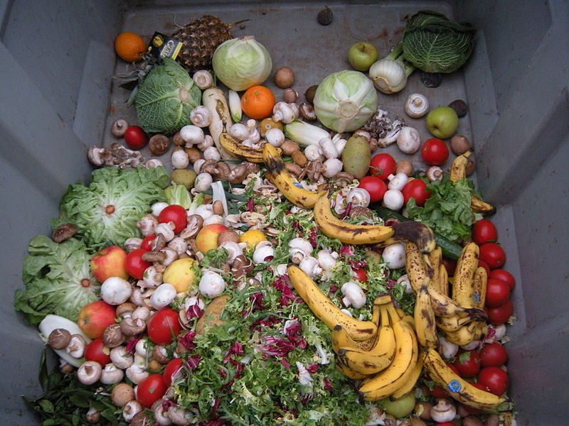 kastede grønnsaker